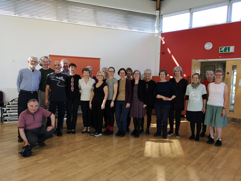Participants at Ventzi Sotirov dance workshop